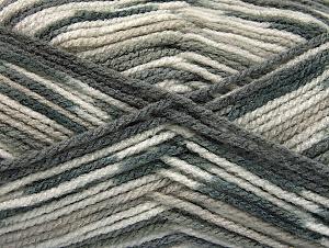 Fiber Content 100% Acrylic, Brand Ice Yarns, Grey Shades, Yarn Thickness 4 Medium  Worsted, Afghan, Aran, fnt2-59725