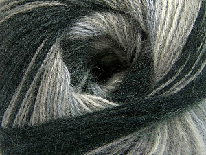 Fiber Content 60% Acrylic, 20% Wool, 20% Angora, Brand Ice Yarns, Grey Shades, Black, Yarn Thickness 2 Fine  Sport, Baby, fnt2-59746