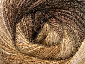 Fiber Content 60% Acrylic, 20% Angora, 20% Wool, Brand Ice Yarns, Camel, Brown Shades, Yarn Thickness 2 Fine  Sport, Baby, fnt2-59748