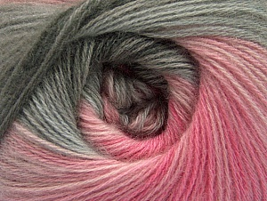 Fiber Content 60% Acrylic, 20% Angora, 20% Wool, Pink Shades, Brand Ice Yarns, Grey Shades, Yarn Thickness 2 Fine  Sport, Baby, fnt2-59752