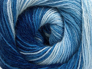Fiber Content 60% Acrylic, 20% Angora, 20% Wool, Brand Ice Yarns, Blue Shades, Yarn Thickness 2 Fine  Sport, Baby, fnt2-59755