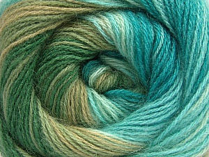 Fiber Content 60% Acrylic, 20% Angora, 20% Wool, Turquoise, Brand Ice Yarns, Green Shades, Yarn Thickness 2 Fine  Sport, Baby, fnt2-59757