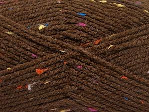 Fiber Content 95% Acrylic, 5% Viscose, Rainbow, Brand Ice Yarns, Brown, Yarn Thickness 4 Medium  Worsted, Afghan, Aran, fnt2-59762