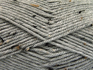 Fiber Content 95% Acrylic, 5% Viscose, Light Grey, Brand Ice Yarns, Brown Shades, Yarn Thickness 4 Medium  Worsted, Afghan, Aran, fnt2-59763