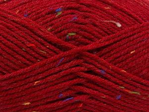 Fiber Content 95% Acrylic, 5% Viscose, Red, Rainbow, Brand Ice Yarns, Yarn Thickness 4 Medium  Worsted, Afghan, Aran, fnt2-59765