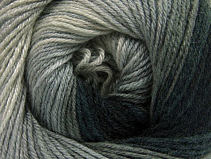 Fiber Content 70% Acrylic, 30% Merino Wool, Brand Ice Yarns, Grey Shades, Black, Yarn Thickness 2 Fine  Sport, Baby, fnt2-59768
