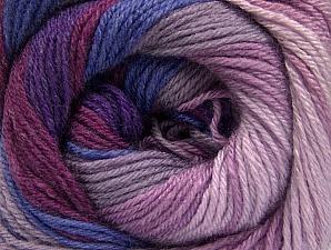 Fiber Content 70% Acrylic, 30% Merino Wool, Purple, Orchid, Lilac Shades, Brand Ice Yarns, Yarn Thickness 2 Fine  Sport, Baby, fnt2-59777