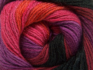 Fiber Content 70% Acrylic, 30% Merino Wool, Purple, Pink, Orange, Brand Ice Yarns, Burgundy, Black, Yarn Thickness 2 Fine  Sport, Baby, fnt2-59778