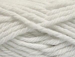 Fiber Content 100% Acrylic, White, Brand Ice Yarns, Yarn Thickness 6 SuperBulky  Bulky, Roving, fnt2-59789