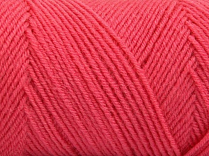 Fiber Content 50% Acrylic, 50% Wool, Salmon, Brand Ice Yarns, Yarn Thickness 3 Light  DK, Light, Worsted, fnt2-59956