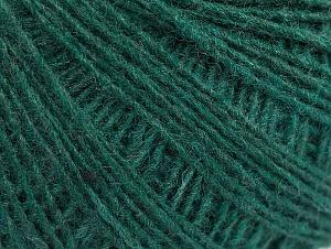 Fiber Content 50% Wool, 50% Acrylic, Brand Ice Yarns, Dark Green, Yarn Thickness 2 Fine  Sport, Baby, fnt2-60042