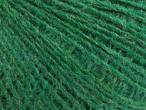Fiber Content 50% Wool, 50% Acrylic, Brand Ice Yarns, Green, Yarn Thickness 2 Fine  Sport, Baby, fnt2-60043