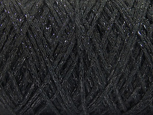 Please be advised that yarn iade made of recycled cotton, and dye lot differences occur. Fiber Content 90% Cotton, 10% Metallic Lurex, Brand Ice Yarns, Black, Yarn Thickness 4 Medium  Worsted, Afghan, Aran, fnt2-60132