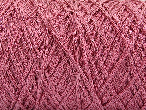 Please be advised that yarn iade made of recycled cotton, and dye lot differences occur. Fiber Content 90% Cotton, 10% Metallic Lurex, Light Pink, Brand Ice Yarns, Yarn Thickness 4 Medium  Worsted, Afghan, Aran, fnt2-60139