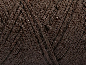 Please be advised that yarn iade made of recycled cotton, and dye lot differences occur. Fiber Content 100% Cotton, Brand Ice Yarns, Dark Brown, Yarn Thickness 5 Bulky  Chunky, Craft, Rug, fnt2-60161