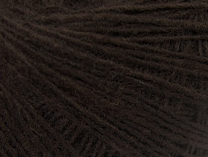 Fiber Content 50% Acrylic, 50% Wool, Brand Ice Yarns, Dark Brown, Yarn Thickness 2 Fine  Sport, Baby, fnt2-60180