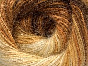 Fiber Content 60% Premium Acrylic, 20% Angora, 20% Wool, Brand Ice Yarns, Cream, Brown Shades, Yarn Thickness 2 Fine  Sport, Baby, fnt2-60239