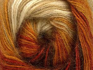 Fiber Content 60% Premium Acrylic, 20% Angora, 20% Wool, Orange, Brand Ice Yarns, Cream, Brown Shades, Yarn Thickness 2 Fine  Sport, Baby, fnt2-60240
