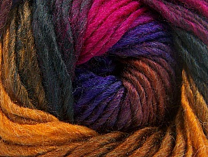 Fiber Content 50% Wool, 50% Acrylic, Purple, Brand Ice Yarns, Gold, Fuchsia, Dark Green, Yarn Thickness 5 Bulky  Chunky, Craft, Rug, fnt2-60249