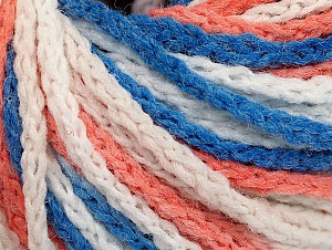 Fiber Content 50% Polyamide, 50% Acrylic, White, Salmon, Brand Ice Yarns, Blue, Yarn Thickness 4 Medium  Worsted, Afghan, Aran, fnt2-60359