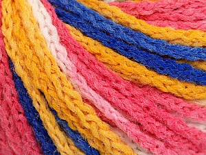 Fiber Content 50% Polyamide, 50% Acrylic, White, Pink, Brand Ice Yarns, Gold, Blue, Yarn Thickness 4 Medium  Worsted, Afghan, Aran, fnt2-60364