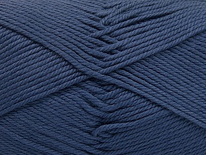 Baby cotton is a 100% premium giza cotton yarn exclusively made as a baby yarn. It is anti-bacterial and machine washable! Fiber Content 100% Giza Cotton, Navy, Brand Ice Yarns, Yarn Thickness 3 Light  DK, Light, Worsted, fnt2-60371