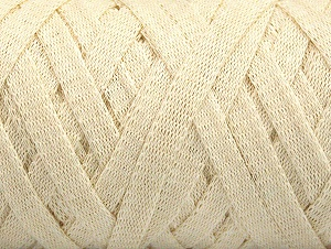 Fiber Content 100% Recycled Cotton, Brand Ice Yarns, Cream, Yarn Thickness 6 SuperBulky  Bulky, Roving, fnt2-60396