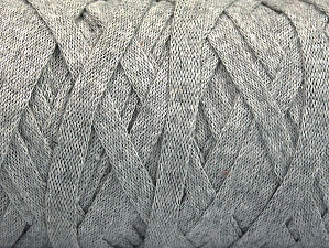 Fiber Content 100% Recycled Cotton, Light Grey, Brand Ice Yarns, Yarn Thickness 6 SuperBulky  Bulky, Roving, fnt2-60397