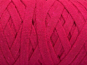 Fiber Content 100% Recycled Cotton, Brand Ice Yarns, Fuchsia, Yarn Thickness 6 SuperBulky  Bulky, Roving, fnt2-60403