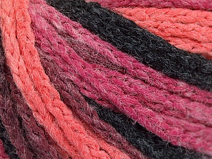 Fiber Content 50% Acrylic, 50% Polyamide, Salmon, Pink, Orchid, Brand Ice Yarns, Black, Yarn Thickness 4 Medium  Worsted, Afghan, Aran, fnt2-60439