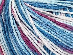 Fiber Content 100% Acrylic, White, Orchid, Brand Ice Yarns, Blue Shades, Yarn Thickness 2 Fine  Sport, Baby, fnt2-60460