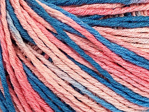 Fiber Content 100% Acrylic, Salmon Shades, Brand Ice Yarns, Blue Shades, Yarn Thickness 2 Fine  Sport, Baby, fnt2-60462