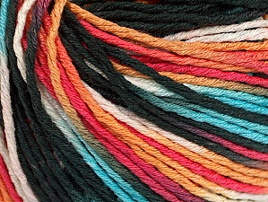 Fiber Content 100% Acrylic, White, Turquoise, Salmon, Orange, Brand Ice Yarns, Black, Yarn Thickness 2 Fine  Sport, Baby, fnt2-60464
