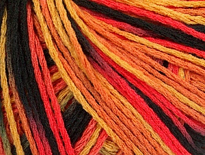 Fiber Content 100% Acrylic, Salmon Shades, Brand Ice Yarns, Gold, Black, Yarn Thickness 2 Fine  Sport, Baby, fnt2-60465