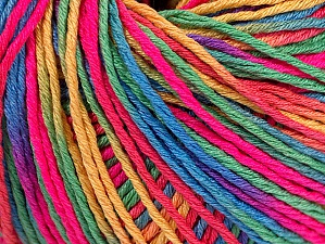 Fiber Content 100% Acrylic, Neon Pink, Brand Ice Yarns, Green, Gold, Blue, Yarn Thickness 2 Fine  Sport, Baby, fnt2-60467