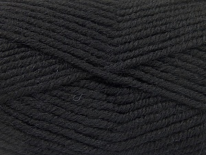 Fiber Content 50% Acrylic, 25% Wool, 25% Alpaca, Brand Ice Yarns, Black, Yarn Thickness 5 Bulky  Chunky, Craft, Rug, fnt2-60855