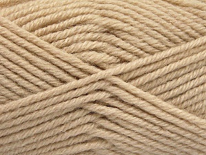 Fiber Content 50% Acrylic, 25% Wool, 25% Alpaca, Light Beige, Brand Ice Yarns, Yarn Thickness 5 Bulky  Chunky, Craft, Rug, fnt2-60857