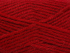 Fiber Content 50% Acrylic, 25% Alpaca, 25% Wool, Red, Brand Ice Yarns, Yarn Thickness 5 Bulky  Chunky, Craft, Rug, fnt2-60862