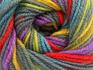 Fiber Content 100% Premium Acrylic, Yellow, Red, Lilac, Brand Ice Yarns, Grey, Green, Yarn Thickness 3 Light  DK, Light, Worsted, fnt2-60877
