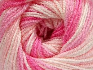 Fiber Content 100% Premium Acrylic, White, Pink Shades, Brand Ice Yarns, Yarn Thickness 3 Light  DK, Light, Worsted, fnt2-60886
