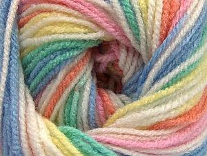 Fiber Content 100% Premium Acrylic, Pastel Rainbow, Brand Ice Yarns, Yarn Thickness 3 Light  DK, Light, Worsted, fnt2-60888