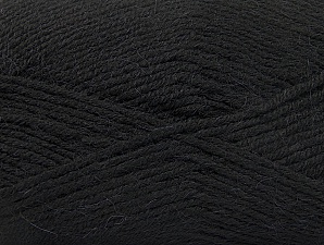 Fiber Content 50% Acrylic, 25% Alpaca, 25% Wool, Brand Ice Yarns, Black, Yarn Thickness 3 Light  DK, Light, Worsted, fnt2-60889