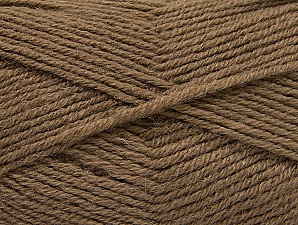 Fiber Content 50% Acrylic, 25% Alpaca, 25% Wool, Brand Ice Yarns, Dark Camel, Yarn Thickness 3 Light  DK, Light, Worsted, fnt2-60892