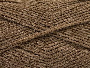 Fiber Content 50% Acrylic, 25% Alpaca, 25% Wool, Brand Ice Yarns, Dark Camel, Yarn Thickness 3 Light  DK, Light, Worsted, fnt2-60892