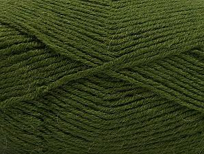 Fiber Content 50% Acrylic, 25% Alpaca, 25% Wool, Brand Ice Yarns, Dark Green, Yarn Thickness 3 Light  DK, Light, Worsted, fnt2-60899