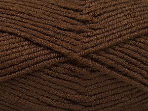 Fiber Content 100% Acrylic, Brand Ice Yarns, Dark Brown, Yarn Thickness 5 Bulky  Chunky, Craft, Rug, fnt2-60929