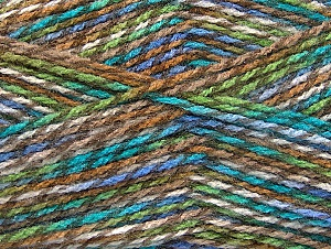 Fiber Content 100% Premium Acrylic, White, Turquoise, Lilac, Brand Ice Yarns, Brown Shades, Yarn Thickness 2 Fine  Sport, Baby, fnt2-60945