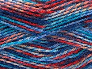 Fiber Content 100% Premium Acrylic, Salmon, Red, Brand Ice Yarns, Blue Shades, Yarn Thickness 2 Fine  Sport, Baby, fnt2-60948