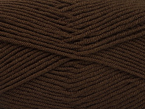 Fiber Content 100% Acrylic, Brand Ice Yarns, Dark Brown, Yarn Thickness 4 Medium  Worsted, Afghan, Aran, fnt2-60968