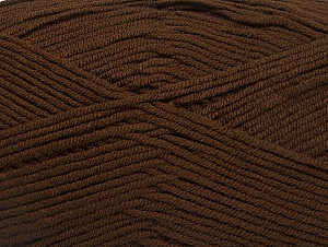 Fiber Content 100% Acrylic, Brand Ice Yarns, Brown, Yarn Thickness 4 Medium  Worsted, Afghan, Aran, fnt2-60969